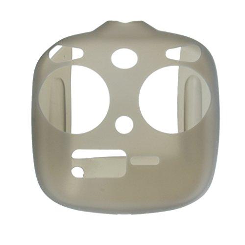 Preisvergleich Produktbild Grau Silikon Schutzhülle Abdeckungsfall für Dji Phantom 3 Standard Fernbedienung