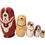 Tenflyer New Baby Toy Nesting Dolls Wooden Matryoshka Set Russian Dolls Hand Painted Home Decoration Birthday Gifts