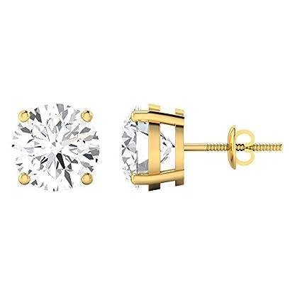 Diamond Farm 1 carat 18k Yellow Gold and Diamond Solitaire Stud Earrings