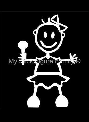 My Stick Figure Family Familie Autoaufkleber Aufkleber Sticker Decal Baby Mädchen BG2
