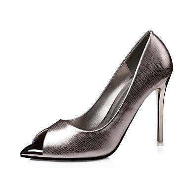 RTRY Donna Tacchi Pompa Di Base Pu Primavera Autunno Casual Office &Amp; Carriera Parte &Amp; Sera Stiletto Heel Ruby Argento Oro Nero 4A-4 3/4In US6.5-7 / EU37 / UK4.5-5 / CN37