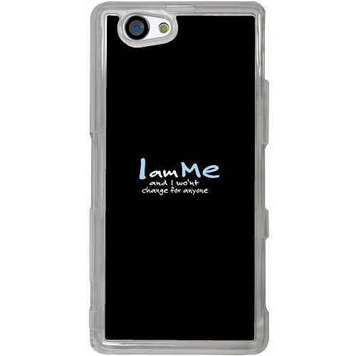 Casotec Quotes Design 2D Hard Back Case Cover for Sony Xperia Z1 Mini / Compact - Clear  available at amazon for Rs.399