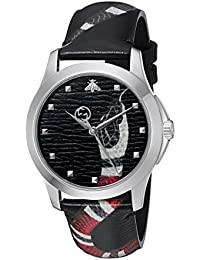 Gucci Unisex-Armbanduhr Quarz Leder YA1264007