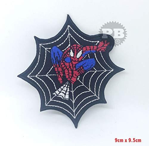 Das Spiderman-Netz, das Eisen springt, nähen auf Flecken gesticktem Wunder-Abzeichen (Netz)