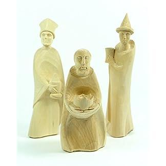 Portal tres Reyes Magos * Figura, 3-unidades, talladas a mano * 17 cm
