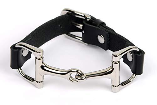 Goldhammer Jewelry Lederarmband Pferde-Gebiss, Trense Armband, Reiter Accessoire, Pferde Armband