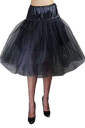Schwarzer Petticoat-Rock Damen schwarz one size Röckchen