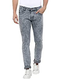 Urbano Fashion Men's Light Grey Slim Fit Jeans Stretchable