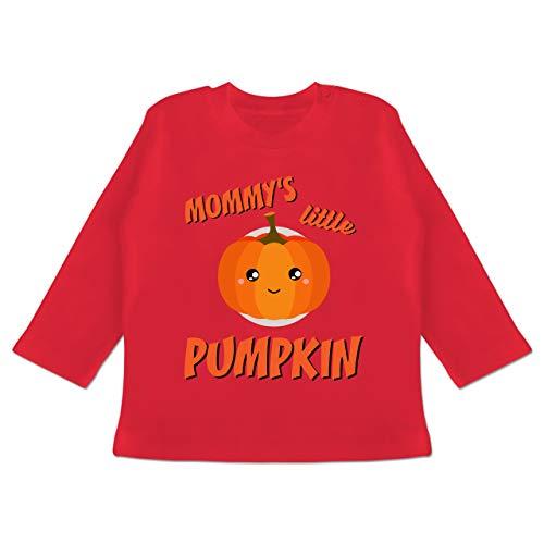 (Anlässe Baby - Mommys Little Pumpkin Halloween - 3-6 Monate - Rot - BZ11 - Baby T-Shirt Langarm)