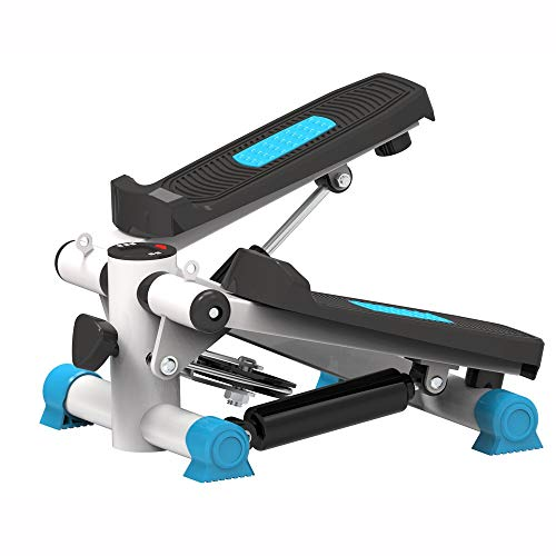 YFFSS Health & Fitness Mini Stepper MultifunktionspedalmaschineAerobic Gym Machine LCD-Display zeigt Kalorien Fitnessgeräte (Color : Blue)
