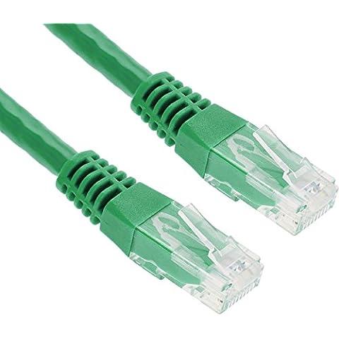GizzmoHeaven 10M Verde Cable de red Ethernet Cat5e Alta Velocidad RJ45 LAN Patch para redes domésticas y de la oficina - 10 Metro - Verde