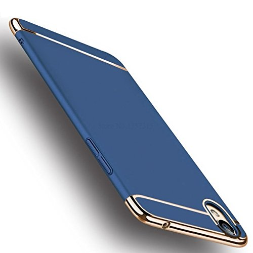 SPL New Chrome 3IN1 Luxury Full body Protective Back cover for OPPO A37f (Blue)