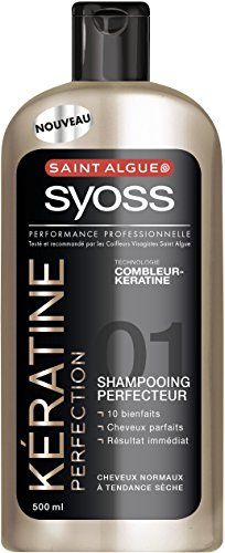 Saint Algue Syoss Shampooing Kératine Perfection Flacon 500 ml - Lot de 3