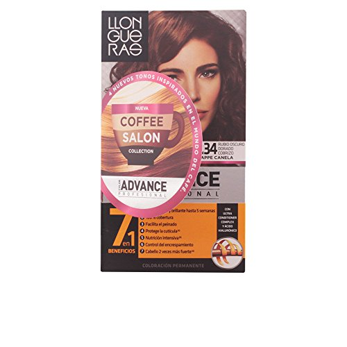 Llongueras Color Advance Colorazione Permanente, Unisex, 6,34 Golden Dark Blonde - 60 ml