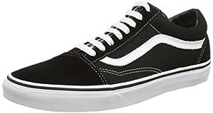 Vans Old Skool, VD3HY28, Unisex-Erwachsene Sneaker, Schwarz (Black/White), 39 EU