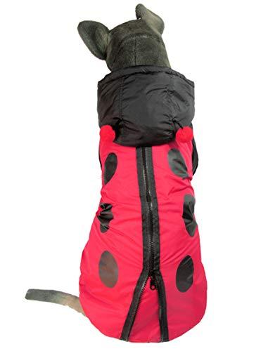 Mieel Haustier Kleidung Herbst Pet Bekleidung Warme Haustier Jacke Wasserdicht Hunde Wintermäntel Bequemes Kapuzenpullover Lovely Kostüme Party Für Large Hunde Marienkäfer Muster
