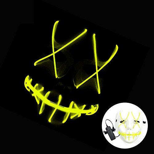 asquerade / Halloween Ghost Slit Mund Licht (enthält keine Batterien) bis Lumineszenz-Maske für Party Prop (1PCS) (Halloween Ghost Lights)