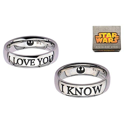 Ufficiale Principessa Leia I LOVE YOU SO Han Solo e coppia Ring Set - Boxed
