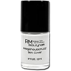 uñas piel protección skin Cover látex piel Peel Off 12ml Color Blanco RM beautynails