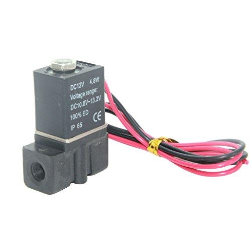 """MagiDeal DC12V Magnetventil Elektro 1/4\"""" 1/8\"""" Ventil Electric Solenoid Valve für Wasser Luft Öl Gas - für 1-8 Gewinde"""