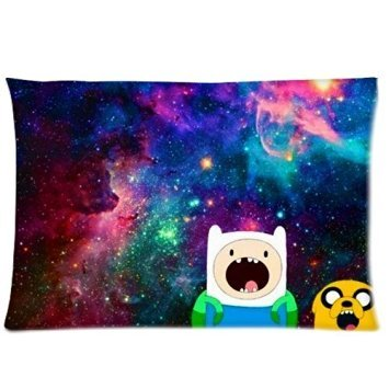 Trendsetter Adventure Time Finn Jake Galaxy DIY federa Throw Pillow Cover cuscino Custodia 20x 30(due (Adventure Time Cuscino)