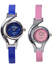 Glory Blue And Pink Analog Watch For Women- Pack Of 2