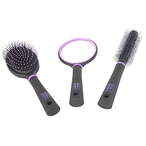 Coffret de coiffure - 2 brosses et 1 miroir - Accessoires de coiffure