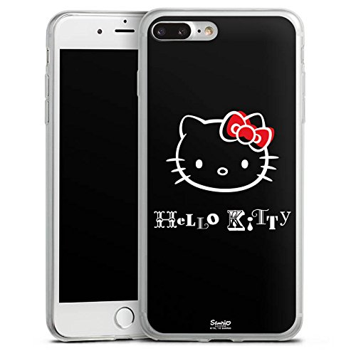 Apple iPhone 8 Slim Case Silikon Hülle Schutzhülle Hello Kitty Merchandise Fanartikel Love Silikon Slim Case transparent