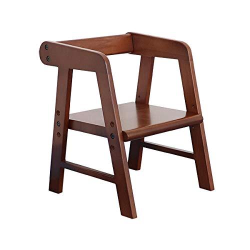 Velliceasay Design Hocker,Kinderstuhl Rückenlehne Stuhl Massivholz Hebbar Esszimmerstuhl Baby Bank Kindergartenstuhl Cartoon Geburtstagsgeschenk,Walnussfarbe (reines Massivholz)
