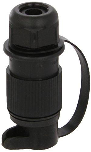 HELLA Stecker 3-polig, für Land- und Baumaschinen nach DIN 9680 . aus schwarzem Kunststoff, mit Gummitülle für Leitungen ø 8 - 13 mm. 4 x 6,3 mm / 1 x 4,8 mm Flachsteckanschlüsse. Belastbarkeit: max. 16 A bei 24 V (Leitungsquerschnitt 1,5 mm²), max. 24 A