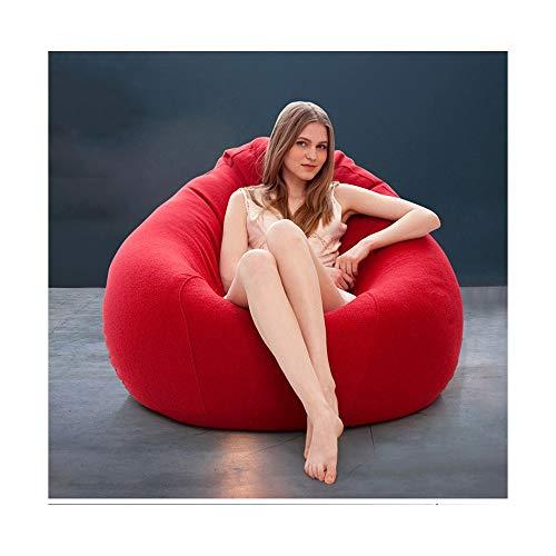 Myj divano letto singolo con rivestimento in tessuto, divano letto imbottito e sofà in tessuto (colore : red, dimensioni : s.)
