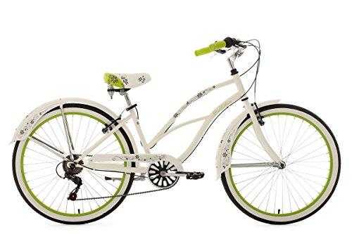 KS Cycling Damen Fahrrad Beachcruiser Bellefleur weiß-Grün 26