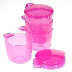 Vital Baby Food Pots (Pink, 4-Pack)