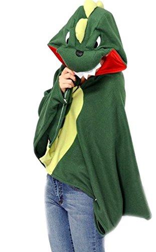 Nicetage Unisex Tier Cosplay Poncho Umhang Cape Mantel Wrap (Umhang Totoro Kostüm)