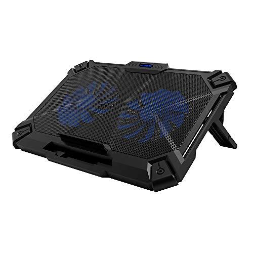 Docooler COOLCOLD K35 Refroidisseur Ordinateur Portable Ultra-Mince Ventilateur Pliable réglable USB 2 Ventilateurs de Refroidissement Radiateur Ordinateur Portable