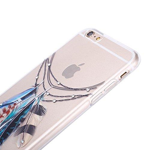 iPhone 7 Plus Clear Transparent Glitzer Case,Glitzer Transparent Hülle für iPhone 7 Plus,iPhone 7 Plus Crystal Clear Hardcase Case Hülle Liquid Gel Schutzhülle Etui für iPhone 7 Plus 5.5 Zoll,EMAXELER Feather 5