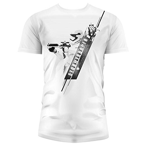 SD toys - T-Shirt - Star Wars Episode 7- Homme Stormtrooper Blaster Blanc Taille L - 8436546898726