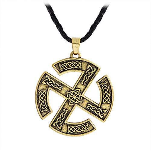 Nordische Wikinger Amulett Herren Halskette Slawischen Wikinger Runen Anhänger Kette Mode Halsketten Schmuck Zubehör Für Mann Geschenk