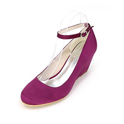 L@YC Pendente confortevole con i talloni degli alti talloni con il partito di cerimonia nuziale del balletto di cerimonia nuziale multicolore Purple