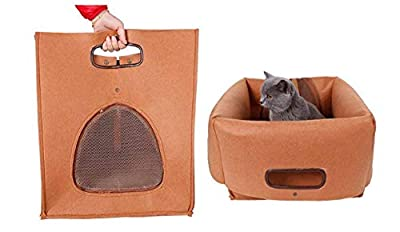 GWM 3 In 1 Pet Nest | Bed | Bag Portable Folding Carrier Breathable comfortable PP Cotton Cat Litter? for Cats and Small Dogs ?40x40x48cm by GWM