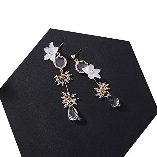 anmutige asymmetrische Blume Ohrringe Temperament Tropfen Fringe Ohrringe (Süßes Paar Halloween Outfits)