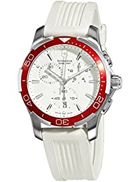 Swiss Army Alliance Sport Chronograph Quartz Steel Womens Watch White Strap Date 241504