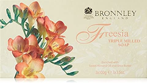 Bronnley Freesia Triple Milled Fine English Soap