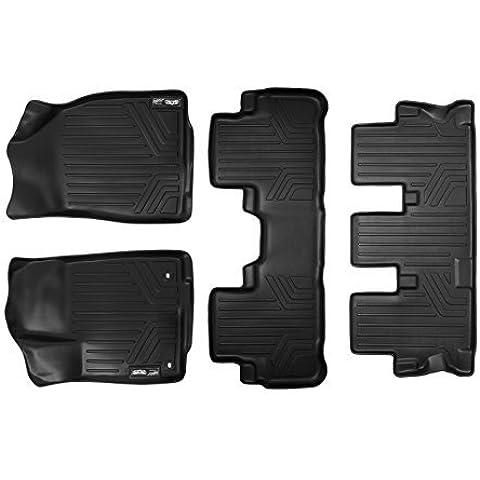 Maxliner MAXFLOORMAT Three Row Set Custom Fit All Weather Floor Mats For Select Toyota Highlander Models - (Black) by MAXLINER