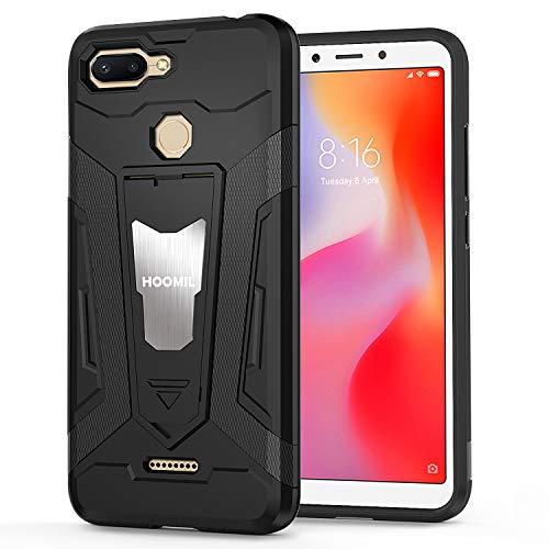 HOOMIL Resistente Funda para Xiaomi Redmi 6, Shock-Absorción Silicona Carcasa para Xiaomi Redmi 6 Case Cover - Negro (H3475)