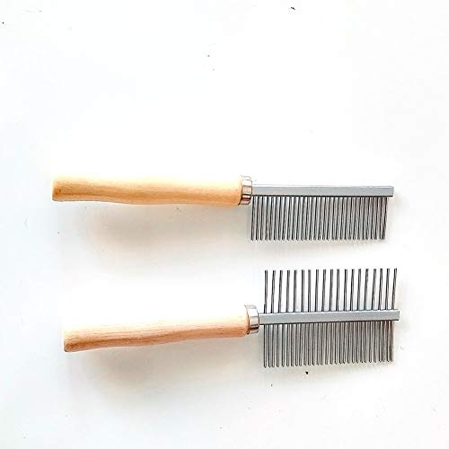 Pet Dog Kamm Long Edelstahl Zähne saubere tierische Haare Pflege Pinsel einseitiges Werkzeug