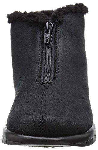 Aerosoles Nonchalant Damen Rund Stoff Mode-Stiefeletten Black