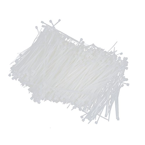 SODIAL(R) Blanc Autobloquant Nylon Emballage cable glissiere attache 1000 Pcs