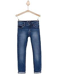 Jeans TIFFOSI coupe skinny slim - pour garçon enfant et ado - bleu stone délavé - coton stretch - taille ajustable - du 8 au 14 ans