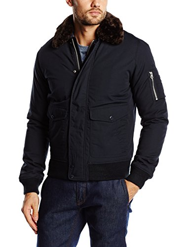 Schott Nyc - AIR, Cappotto piuma da uomo, blu (navy), XL